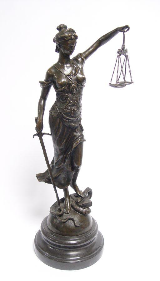 Justice statue bronze of Themis