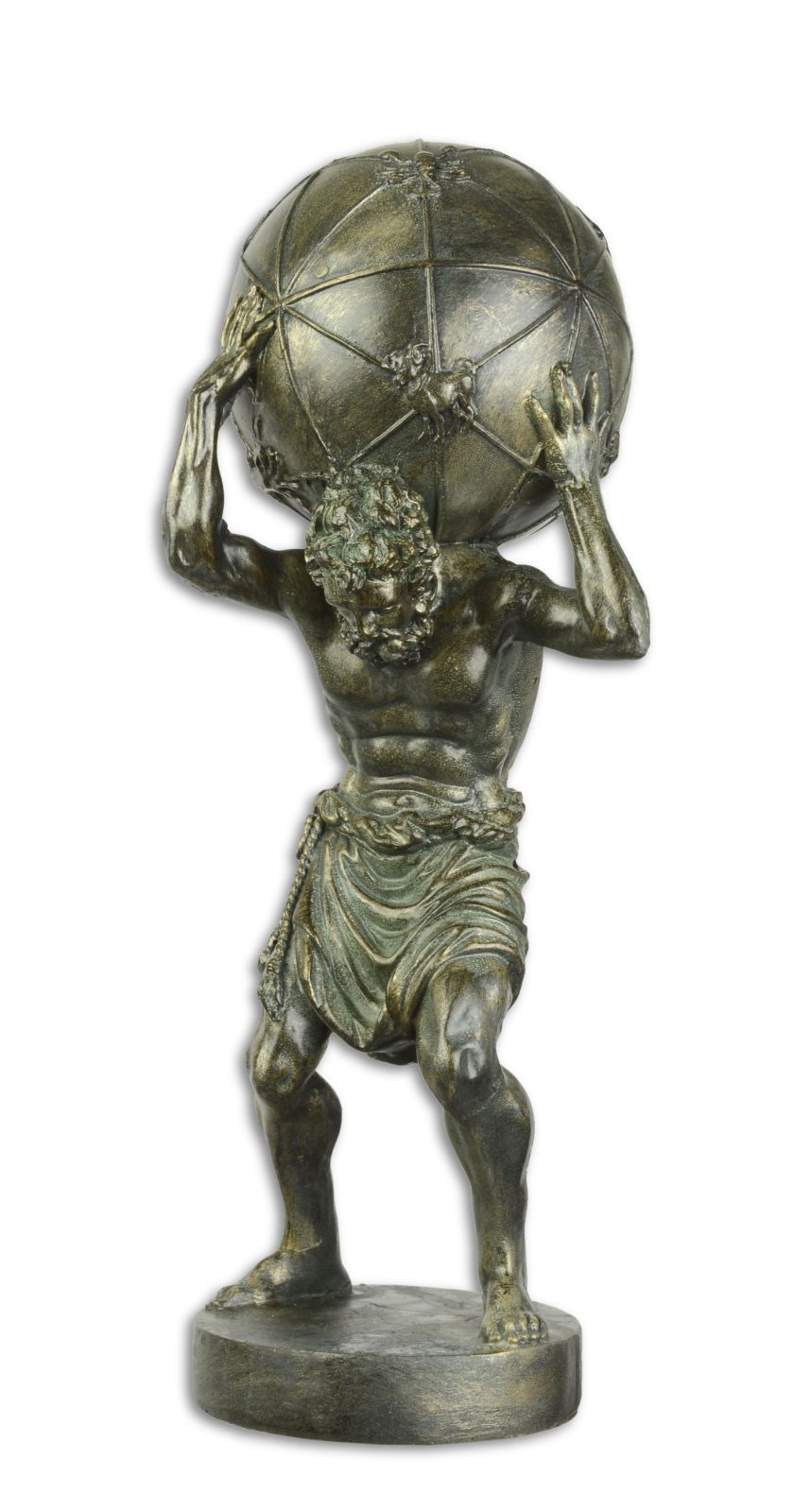 Statue of a atlas made of resin
