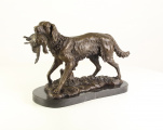 Large bronze statue - Hunting dog