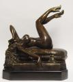 Bronze Statue - Naked Girl Phoning