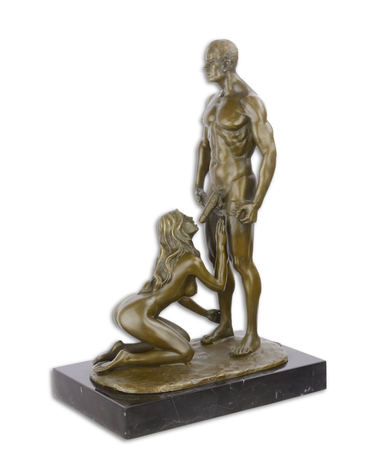 Erotic statue made from bronze