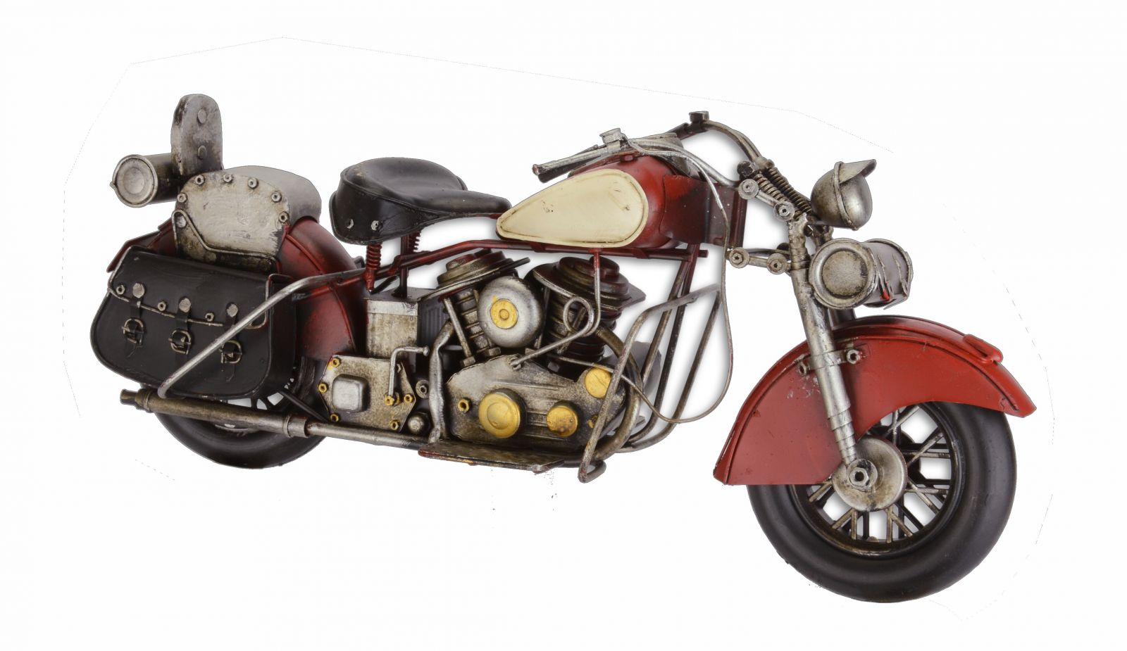 A TIN MODEL OF A MOTORCYCLE RED BrokInCZ