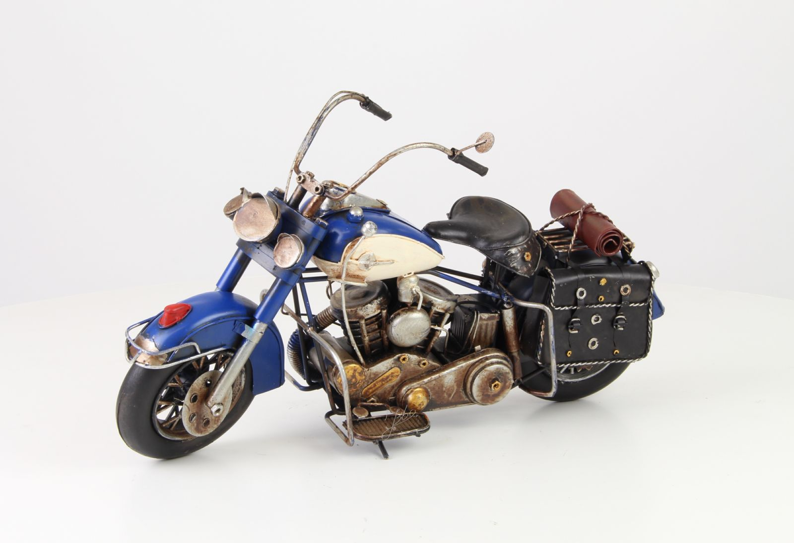 A TIN MODEL OF A MOTORCYCLE