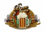 Retro tin sign - BEER TIME BrokInCZ