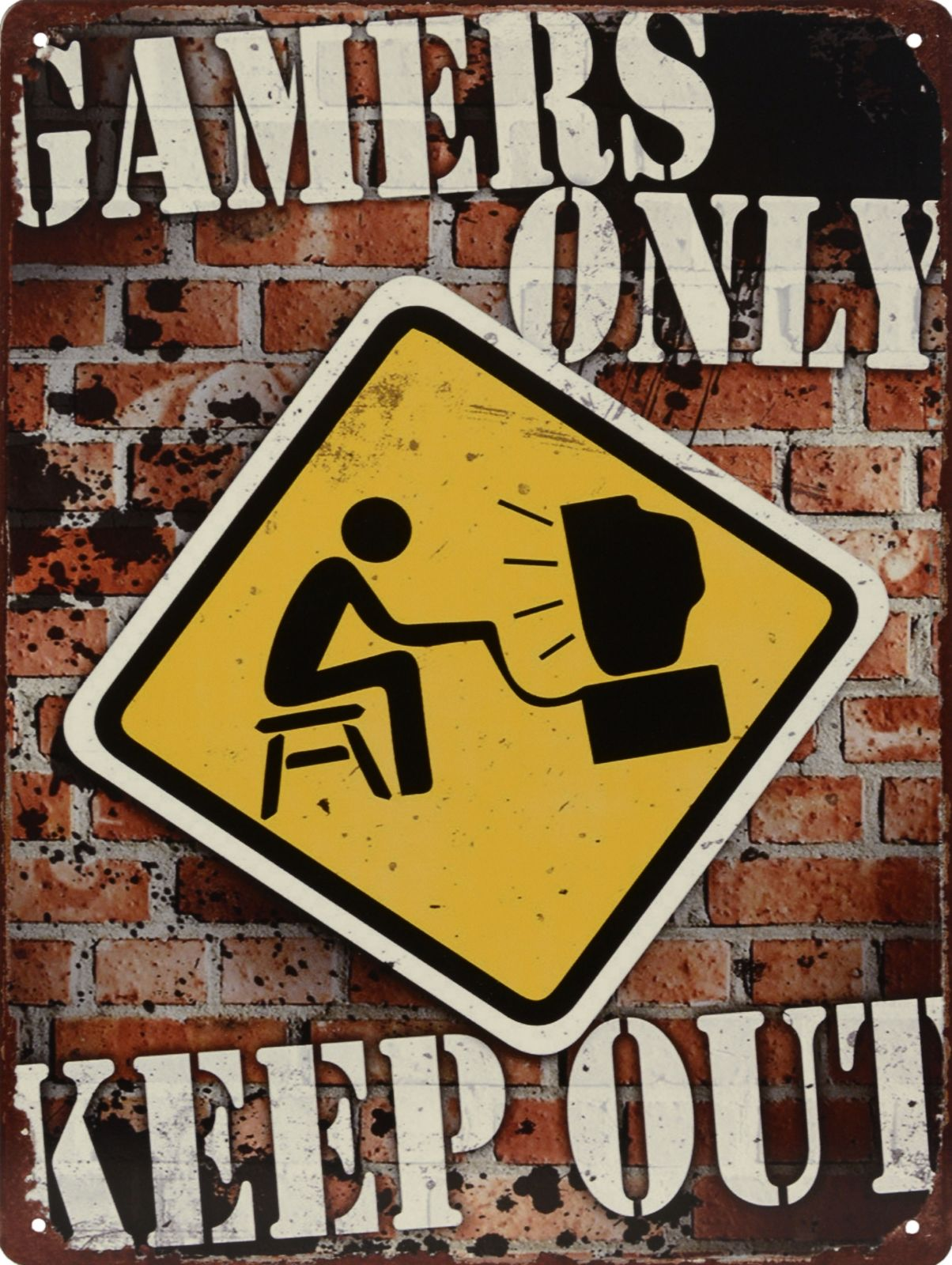 Retro tin sign - GAMERS ONLY BrokInCZ