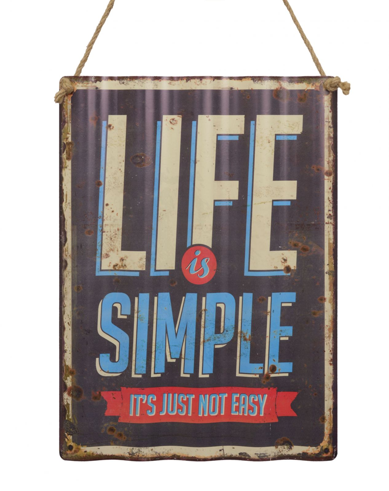 Retro tin sign - LIFE IS SIMPLE BrokInCZ