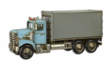 A TIN MODEL OF A CONTAINER TRUCK