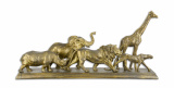 A RESIN SCULPTURE OF THE BIG FIVE