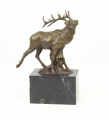 a Bronze statue - a Red deer