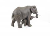 Figurine of an elephant with calf 1