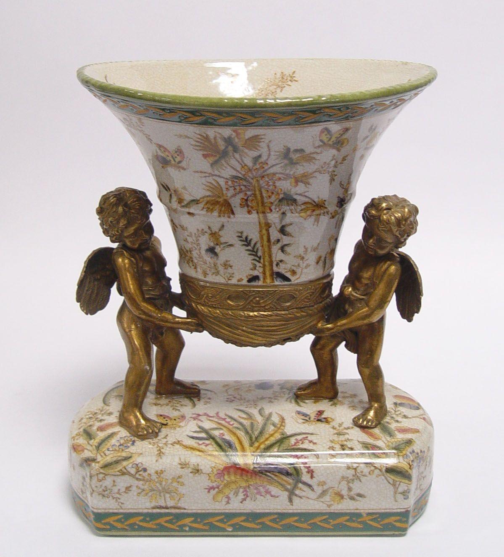 A Porcelain vase with angels BrokInCZ