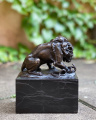 Lion and snake bronze statue BrokInCZ