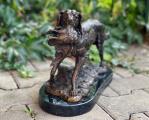 Bronze hunting dog