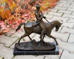A BRONZE EQUESTRIAN STATUE OF LOUIS XV BrokInCZ