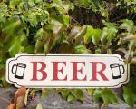 Retro tin sign - BEER BrokInCZ