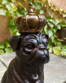Statue of a bulldog made of resin