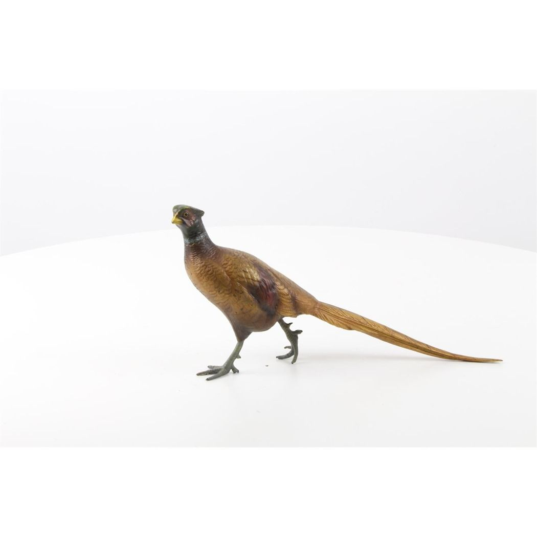 Figurine of a pheasant made of bronze