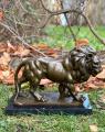 bronze lion figurine
