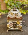 a Casket made of porcelain with flower decoration BrokInCZ