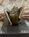 Erotic bronze figurine of two lesbians doing oral sex