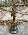 Bronze statue of a lady Justice small