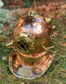 Decorative diving helmet made of copper and brass