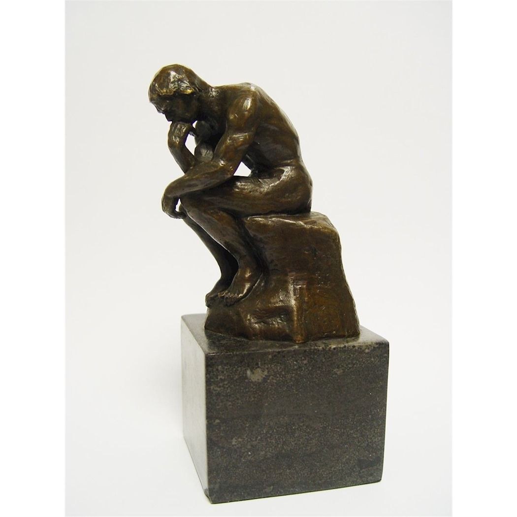 Figurine of the thinker by Auguste Rodin made of bronze