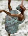 Statue of a ballerina made of Viennese bronze