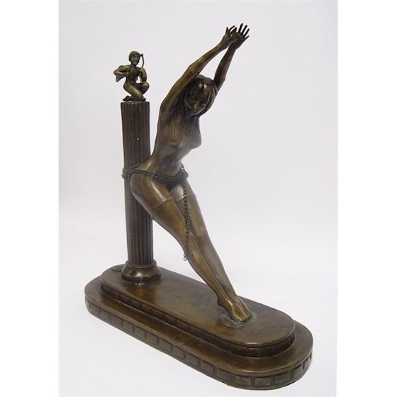 Statue of a prisoner of love made of bronze