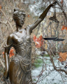 Bronze statue of a lady Justice
