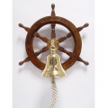 Marine ship steering wheel with bell