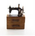 Sheet metal storage box for sewing machine