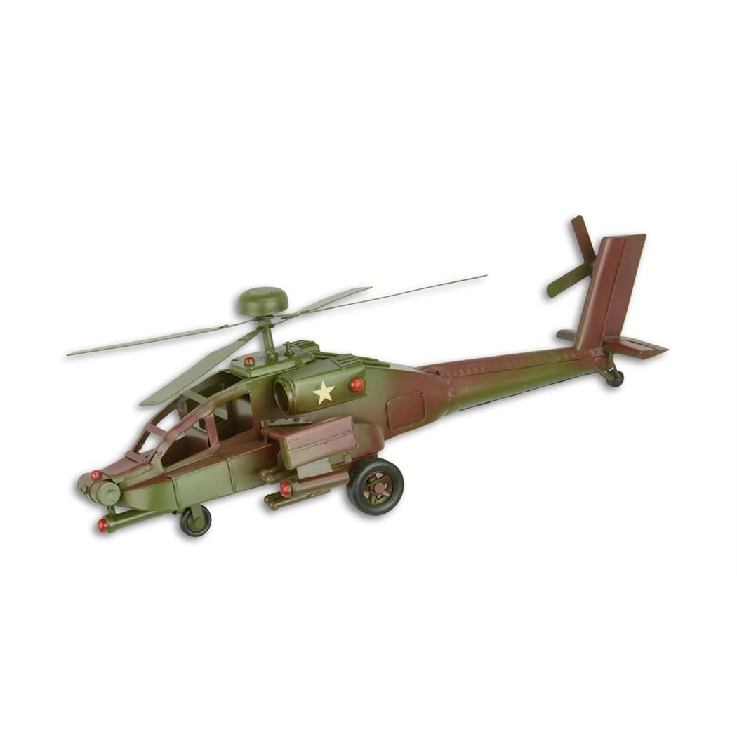 Sheet metal Apache helicopter