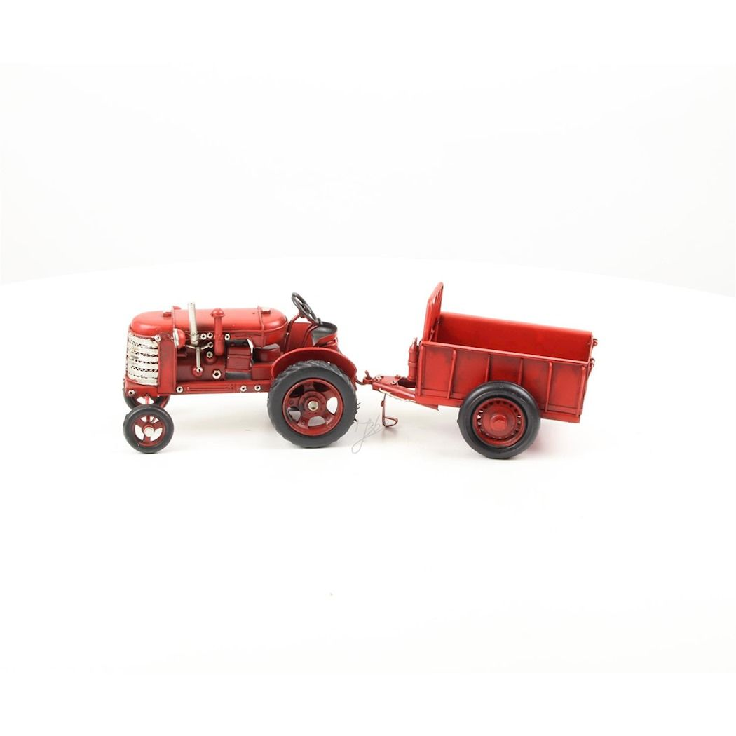 Sheet metal tractor with trailer