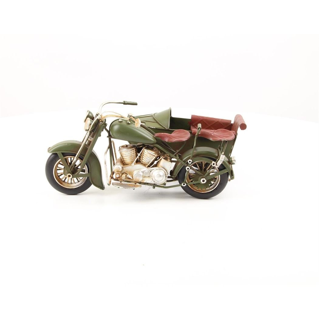 Sheet metal motorcycle with sidecar