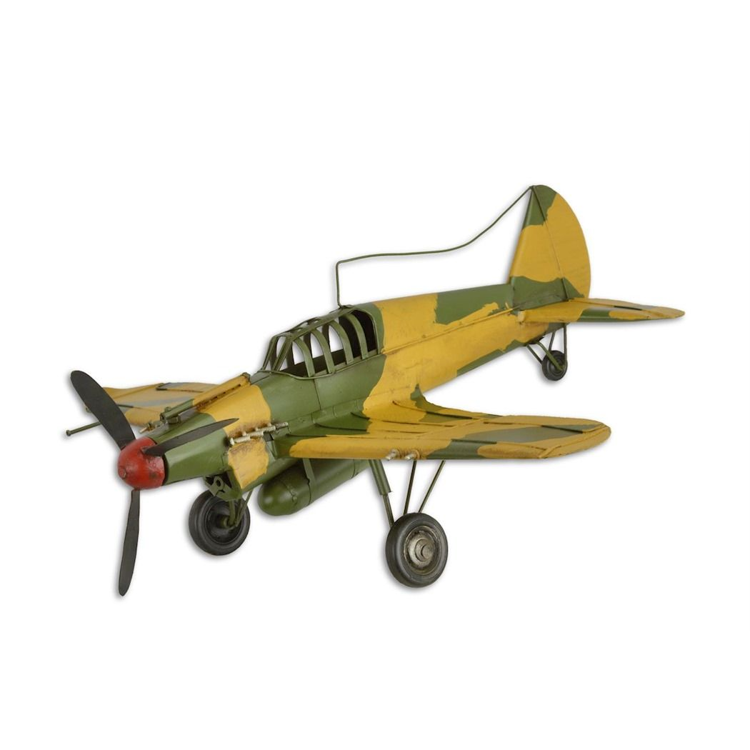 Sheet metal fighter plane