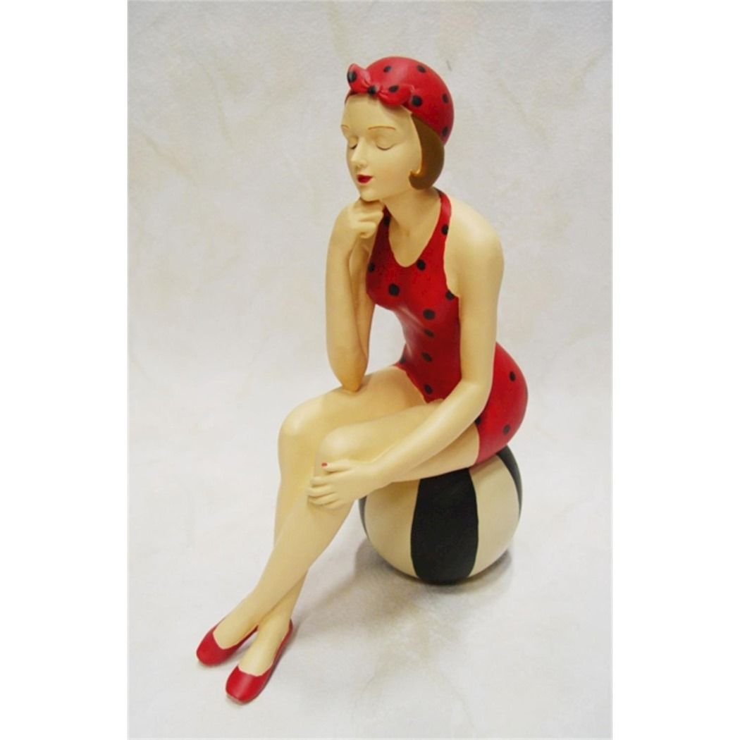 Statue of a woman in swimsuit made of resin 3