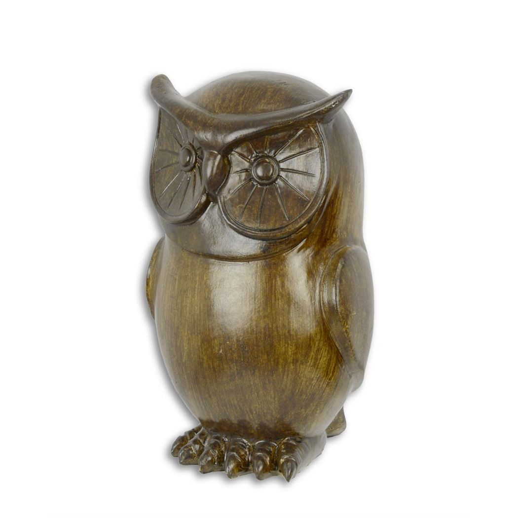 Statue of an owl made of resin