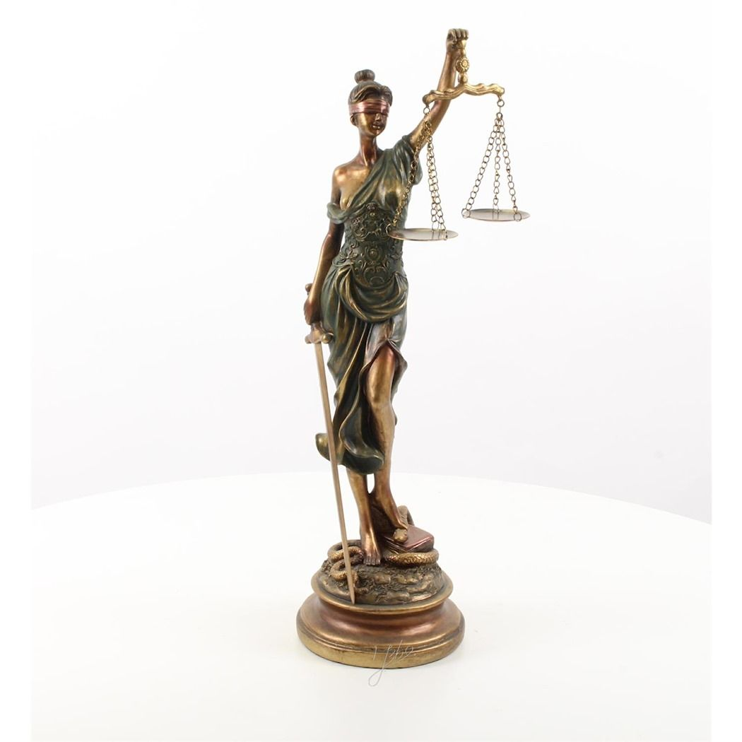 Statue of a woman - Justice made of resin