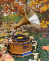 Retro gramophone with trumpet vintage