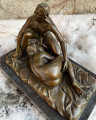 Erotic bronze figurine of a couple in love