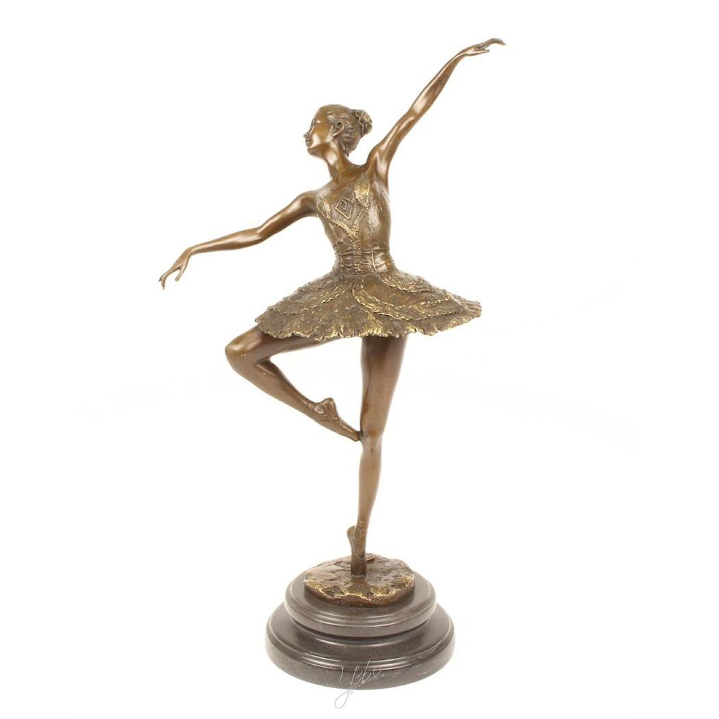 Large bronze ballerina figurine