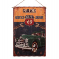 Corrugated metal sign - Garage Service Repair - Route 66