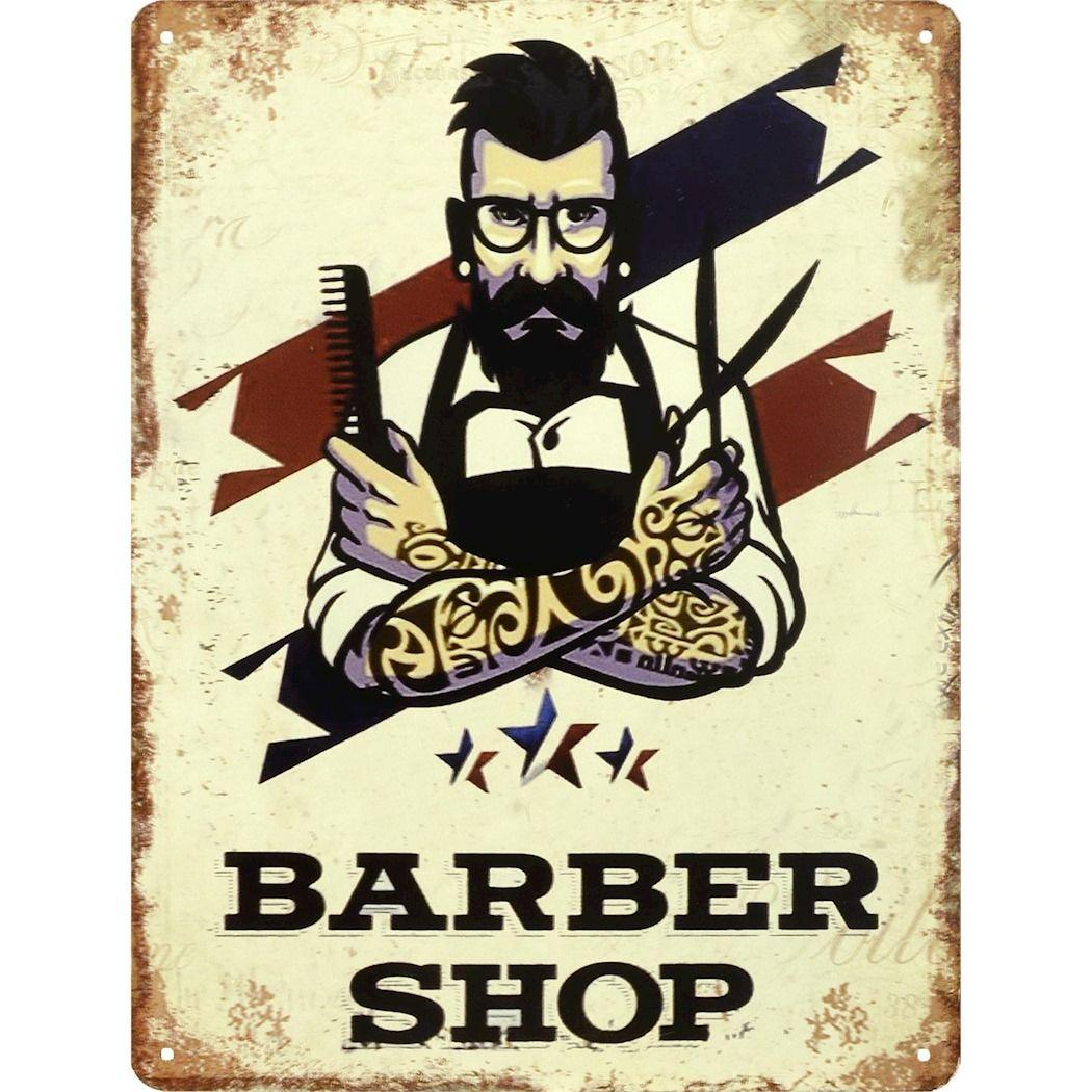 Metal hanging sign - Barber shop
