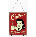 Metal hanging sign - Coffee