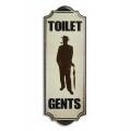 Metal hanging sign - Gents toilet