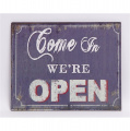 Metal hanging sign - Come in we're open
