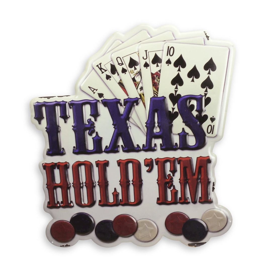 Metal hanging sign - Poker - Texas Holdem