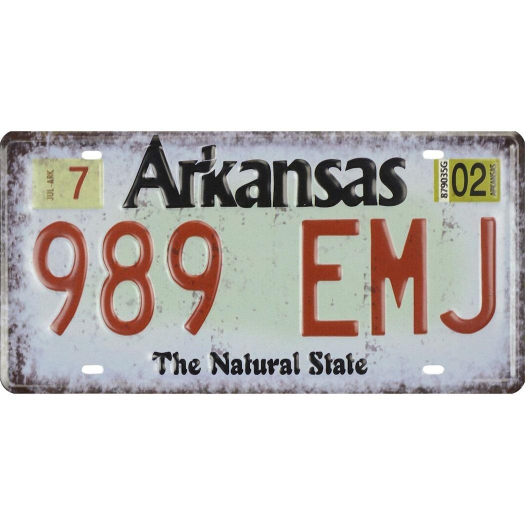 Tin license plate - Arkansas