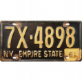 TIN LICENSE PLATE - NY EMPIRE STATE
